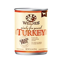 Wellness Canned Dog 95% Turkey 12/13.2 oz Case