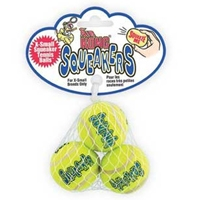 Kong Air Kong Squeaker Extra Small Tennis Balls 3 Pack