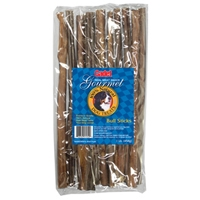 "IMS Gourmet Natural 1 lb. 12"" Bull Sticks"