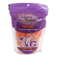 Sweet Meadow Treat Dried Papaya 9oz Bag