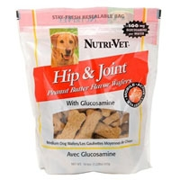 Nutri-Vet Hip & Joint Peanut Butter Wafers Medium 19.5 oz.