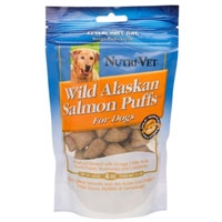 Nutri-Vet Wild Alaskan Salmon Puffs for Dogs 4 oz.