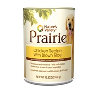 Nature's Variety Prairie Canned Chicken Recipe with Brown Rice 13.2 oz