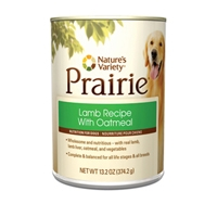 Nature's Variety Prairie Canine Canned Lamb Recipe with Oatmeal 13.2 oz.