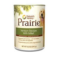 Nature's Variety Prairie Canned Venison Recipe with Millet 13.2 oz.