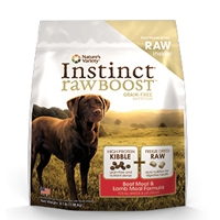 Nature's Variety Instinct Raw Boost Canine Kibble - Beef Meal Formula