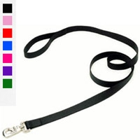 "Coastal Style 906 1"" x 6' Heavyweight Nylon Training Lead Black"