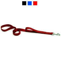 "Coastal Style 906H 1"" x 6' Heavy Weight Nylon Training Lead with Handle Red"