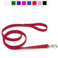 "Coastal Style 2904 1"" x 4' Double Ply Nylon Web Lead Red"