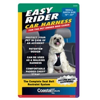 "Coastal Style 6000 Small EASY RIDER Car Harness Adjusts 16-22"" - Black"
