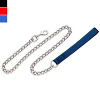 Coastal Style 5503 Titan 4' x 3.00 mm Heavy Chain Lead with Nylon Handle Red