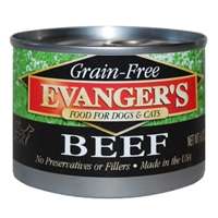 Evanger's 100% Beef for Dogs & Cats, 6 Oz