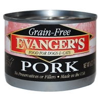 Evanger's Grain-Free Pork for Dogs & Cats, 24/6 Oz