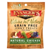 Evanger's Grain Free Organic Chicken With Fruits & Veggies Jerky Treat