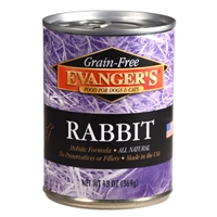 Evanger's Grain-Free Rabbit for Dogs & Cats, 12/13 Oz