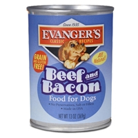 Evanger's All Meat Classic Beef/Bacon, 12/13 Oz