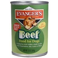 Evanger's All Meat Classics 100% Beef, 12/13 Oz