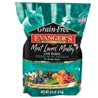 Evanger's Grain-Free Meat Lover's Medley with Rabbit Dry Cat Food 4.4 lbs