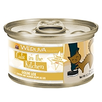 Cats in the Kitchen Chicken & Salmon Recipe Au Jus Goldie Lox Canned Cat Food, 3.2 oz.