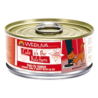 Cats in the Kitchen Two Tu Tango Sardine, Tuna & Turkey Recipe Au Jus Canned Cat Food, 6 oz.