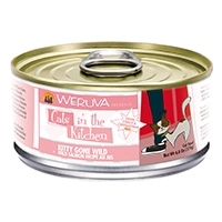 Cats in the Kitchen Wild Salmon Recipe Au Jus Kitty Gone Wild Canned Cat Food, 3.2 oz.