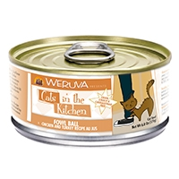 Cats in the Kitchen Chicken & Turkey Recipe Au Jus Fowl Ball Canned Cat Food, 3.2 oz.