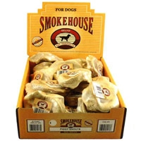 Smokehouse Puffed Piggy Snouts 20ct Shelf Display Box Shrink Wrapped with UPC