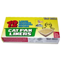 Van Ness Cat Pan Liner 12 Pack Large
