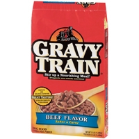 Delmonte Gravy Train Beef Dry Dog Food 35 lb.