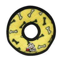 VIP Products Tuffy Jr Gear Ring Yellow Bones