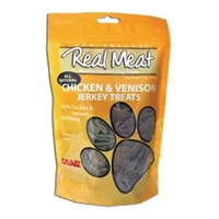 Real Meat Dog Jerky Treats Chicken/Vension 4oz