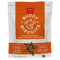 Cloud Star Soft & Chewy Buddy Biscuits Peanut Butter 6 oz.
