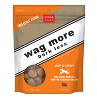 Cloud Star Wag More Bark Less Soft & Chewy Dog Treats  - Peanut Butter Cookie