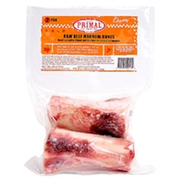 "Primal Frozen Raw Beef Marrow Bone 4"" 2 Pack"