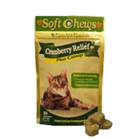 NaturVet Soft Chew Cranberry Relief Cat 50 Count