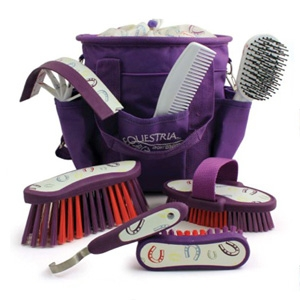 Desert Equestrian Equestria™ Sport Horseshoes™ 8-piece Grooming Kit
