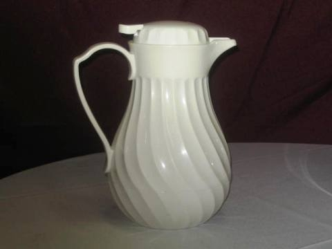 Insulated White Pitcher