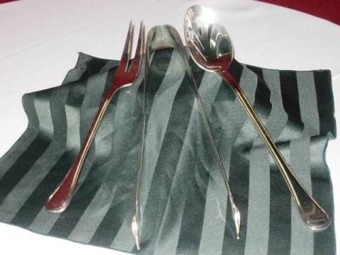 Serving Tongs - Silver