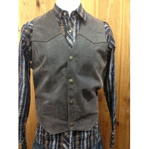 Cripple Creek Basic Vest w/Snap Front
