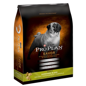 Purina Pro Plan Savor Shredded Weight Management Dog Formula