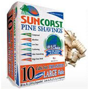 Suncoast® Large Flakes Pine Shavings