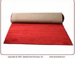 CARPET, RED RUNWAY 4'X25'