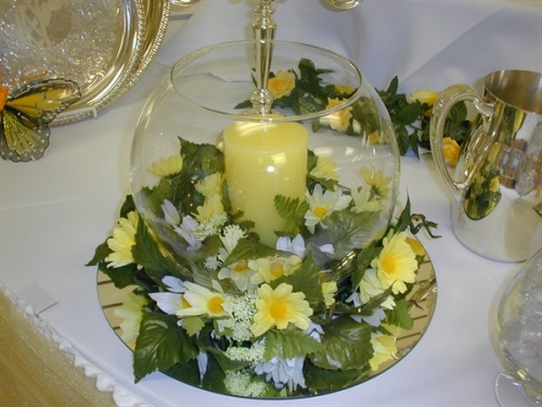 Bubble Bowl Centerpiece