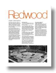 Redwood Deck Construction