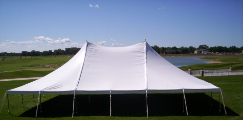 Tent White Pole 40u0027 x 100u0027 & Tent White Pole 40u0027 x 100u0027 | Taylor Rental u0026 Party Plus