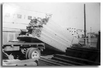 image of truck loaded with lumber circa 1940