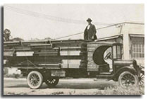 image of old foster delivery truck circa 1940