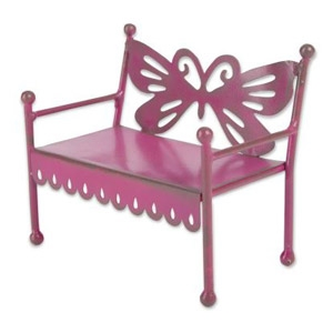 Magnet Works Gypsy Garden Mini Pink Butterfly Back Bench