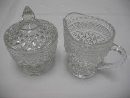 Glassware, Creamer and Sugar Set