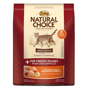 Natural Choice® Adult Chicken & Whole Brown Rice Formula for Finicky Felines